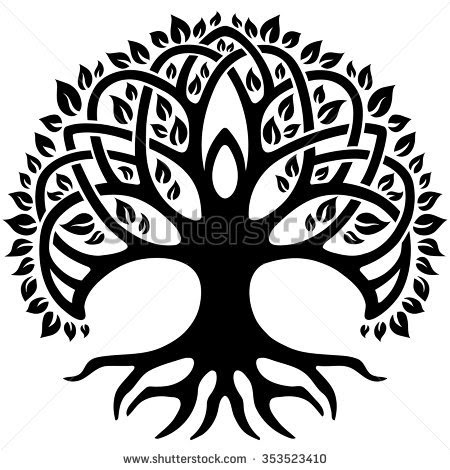 Black And White Tree Of Life Png Transparent Black And White Tree Of