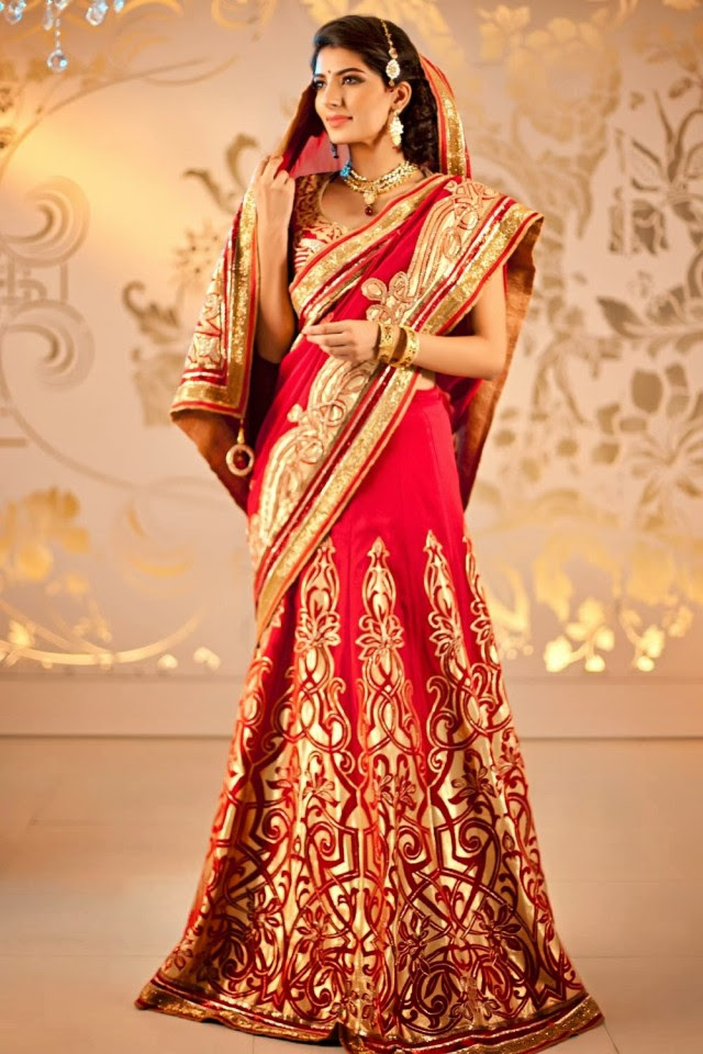 Bridal-Wedding-Formal-Casual-Party-Wear-Sarees-Dress-New-Fashion-Sari-for-Brides-by-Designer-Satya-Paul-3