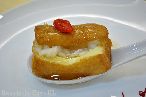 Treasure inside braised tofu
