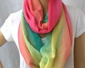 rainbow infinity scarf - YIER