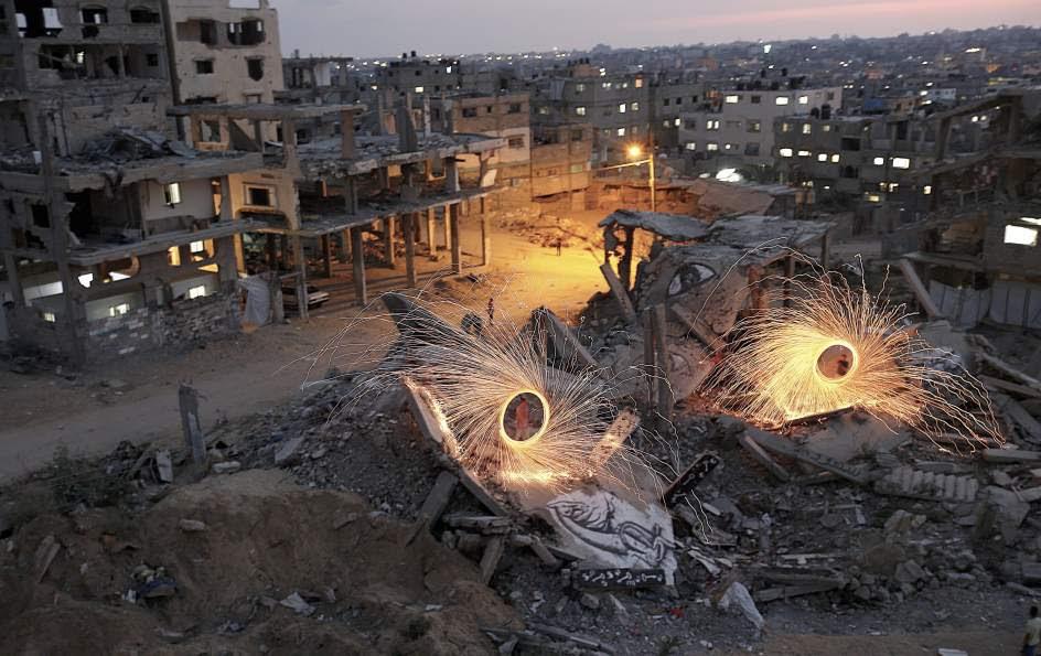 Fuegos artificiales en Gaza