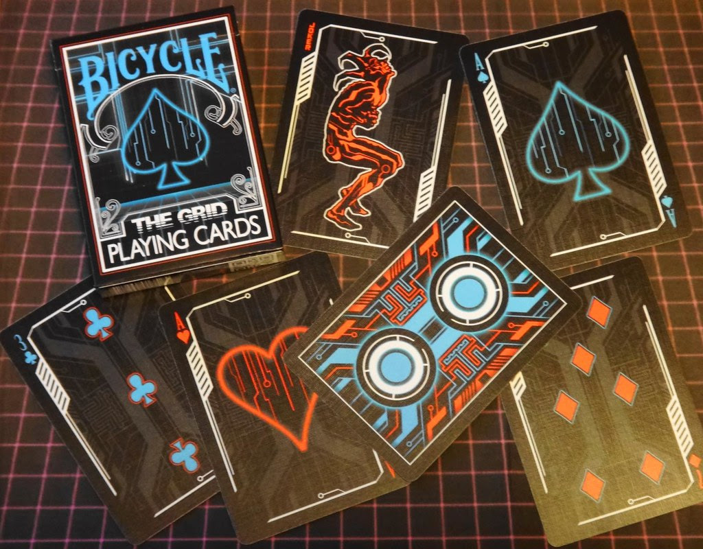 bicycle The Grid playing cards inspired by Tron