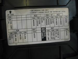 2003 Nissan 350z Fuse Box Diagram