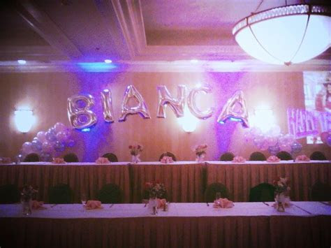 birthday decoration  head table balloonname