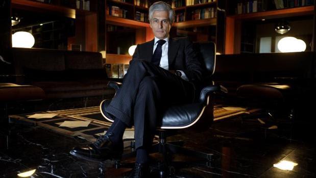 Adolfo Suárez Illana, durante la entrevista en su despacho en Madrid