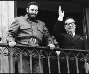 Salvador Allende y Fidel Castro.