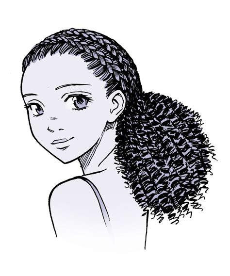 Anime Drawings Curly Hair