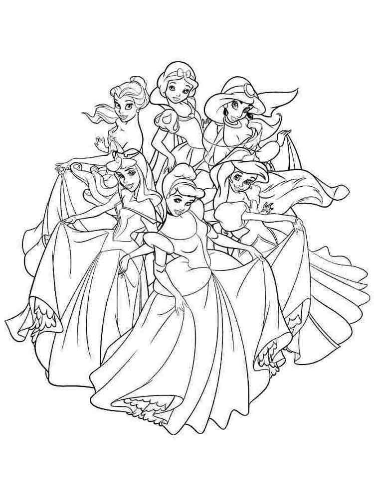 Disney princess coloring pages to print. Free Disney ...