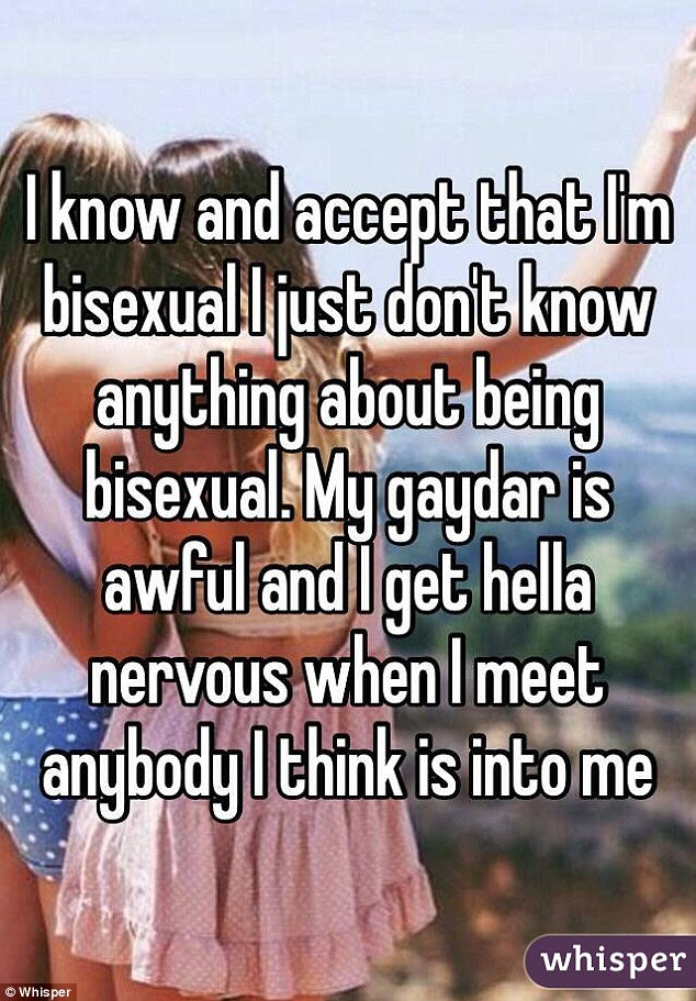 Others admitted they were still rookies and found it hard to judge the sexual orientation of others