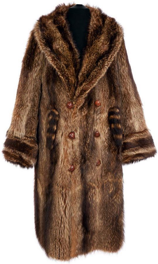Shaved beaver coat