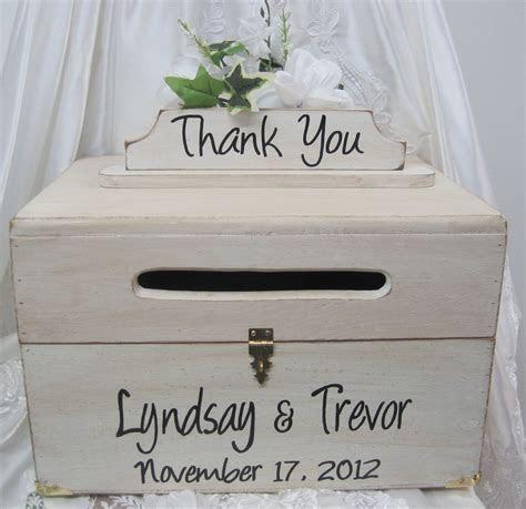 Large Rustic Wedding Card Box Keepsake Chest Handpainted