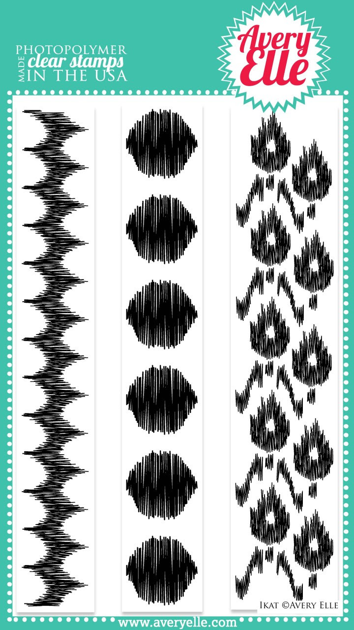 """This modern and fresh 4"""" x 6"""" Ikat clear photopolymer stamp set is like no other.  Use the strips to easily create amazing backgrounds."""