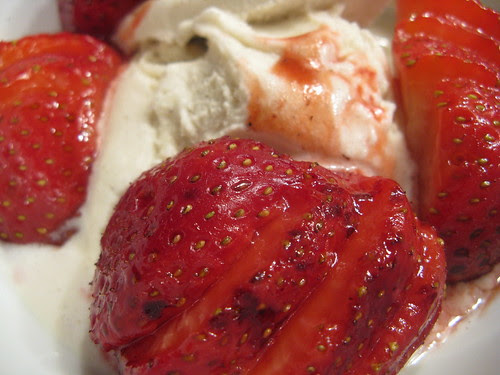 Grilled Balsamic Strawberries