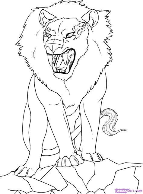 draw  anime lion step  step anime animals