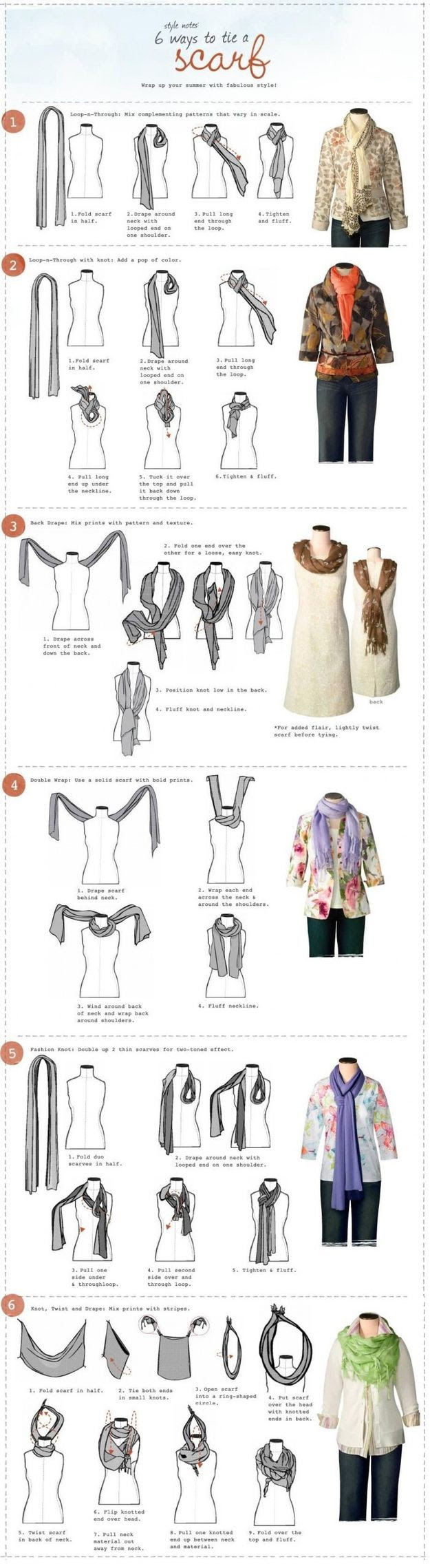 How to Tie a Scarf   21 Incredibly Important Diagrams To Help You Get Through Life