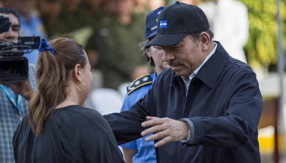Daniel Ortega  en un acto en Managua este jueves.