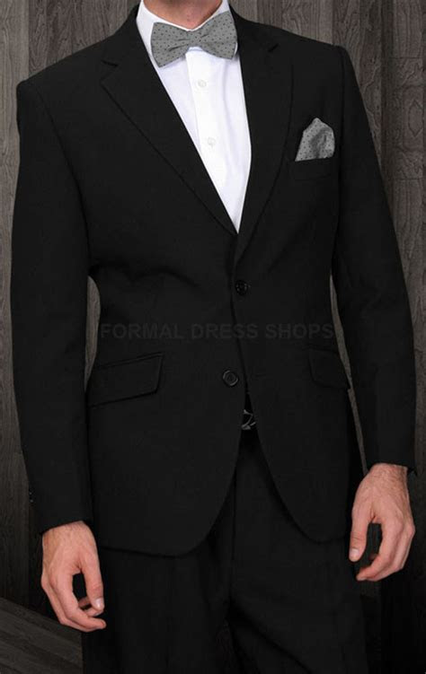 mens  piece solid black suit business meeting funeral