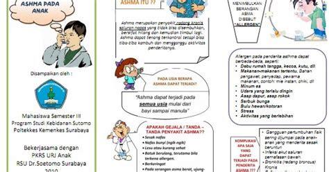 kumpulan materi kebidanan sap  leaflet asma  anak