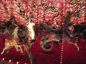 This is a close up shot of the Carousel at Hou...