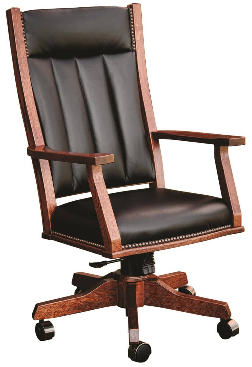 Amish Handcrafted Solid Wood Mission Office Chair