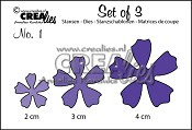 Set of 3 Flowers no. 1 stansen / Set of 3 Flowers no. 1 dies
