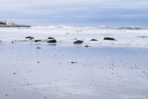 ocean waves at low tide, Jenness Beach