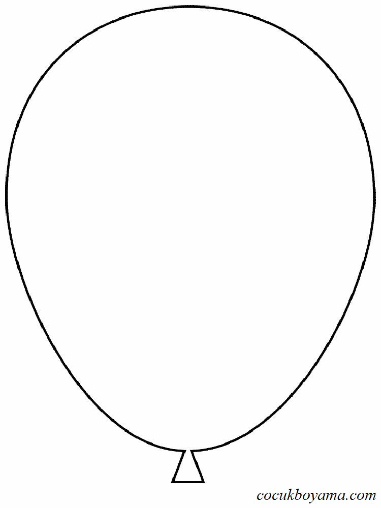 Balonlar 5 ücretsiz Boyama Resimleri