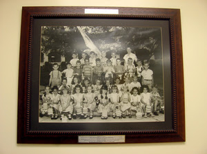 A photo at Coral Way Elementary School, one of the first bilingual schools in the country, shows some of the school's first students.