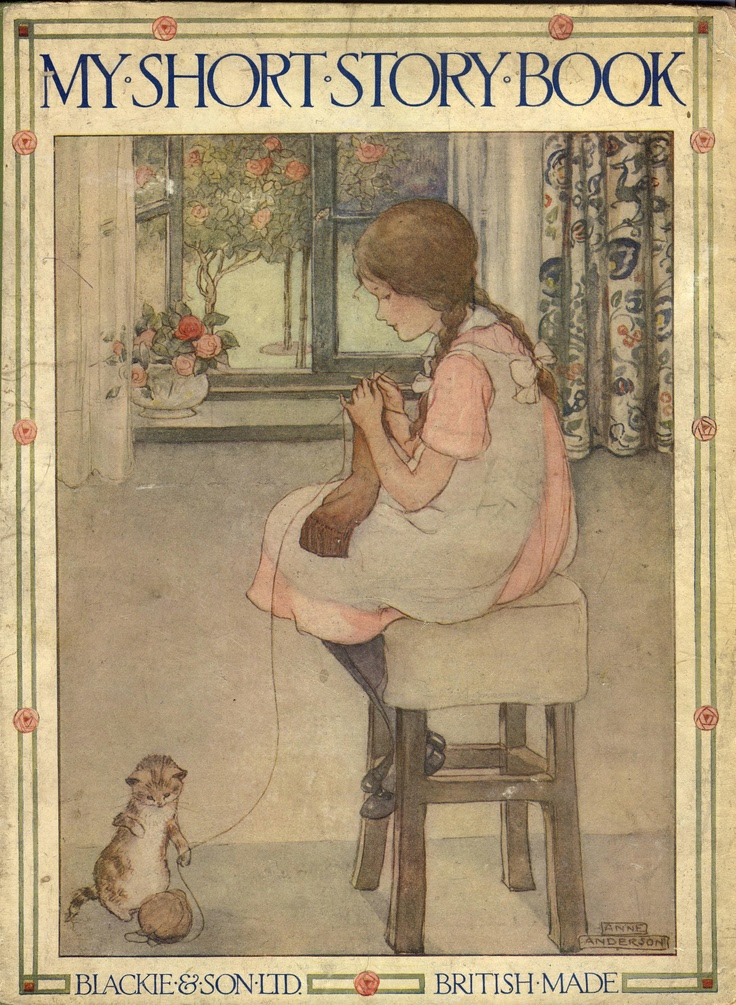 """""""My Short Story Book"""" by Florence Susan Harrison (1877-1955), published by Blackie & Son Ltd. (1930) - Front cover illustrated by Anne Anderson"""