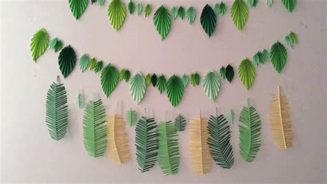 Wall decor ? Tropical DIY ? Paper craft. Origami?   YouTube