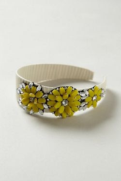 Anthropologie Jewel Blossom Headband