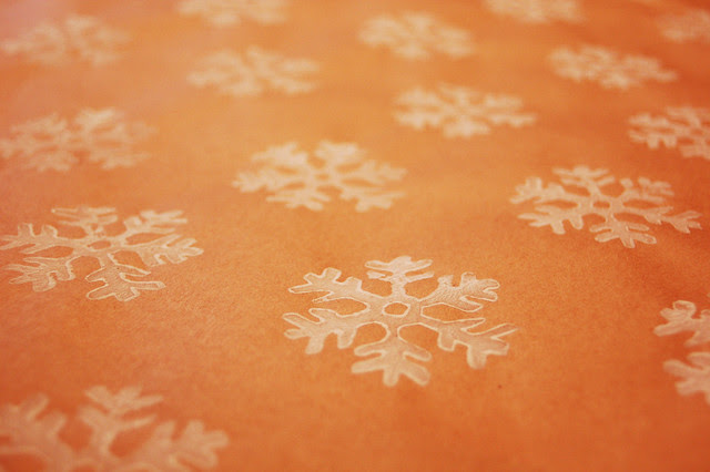 Side By Side Week 115 - Handprinted wrapping paper