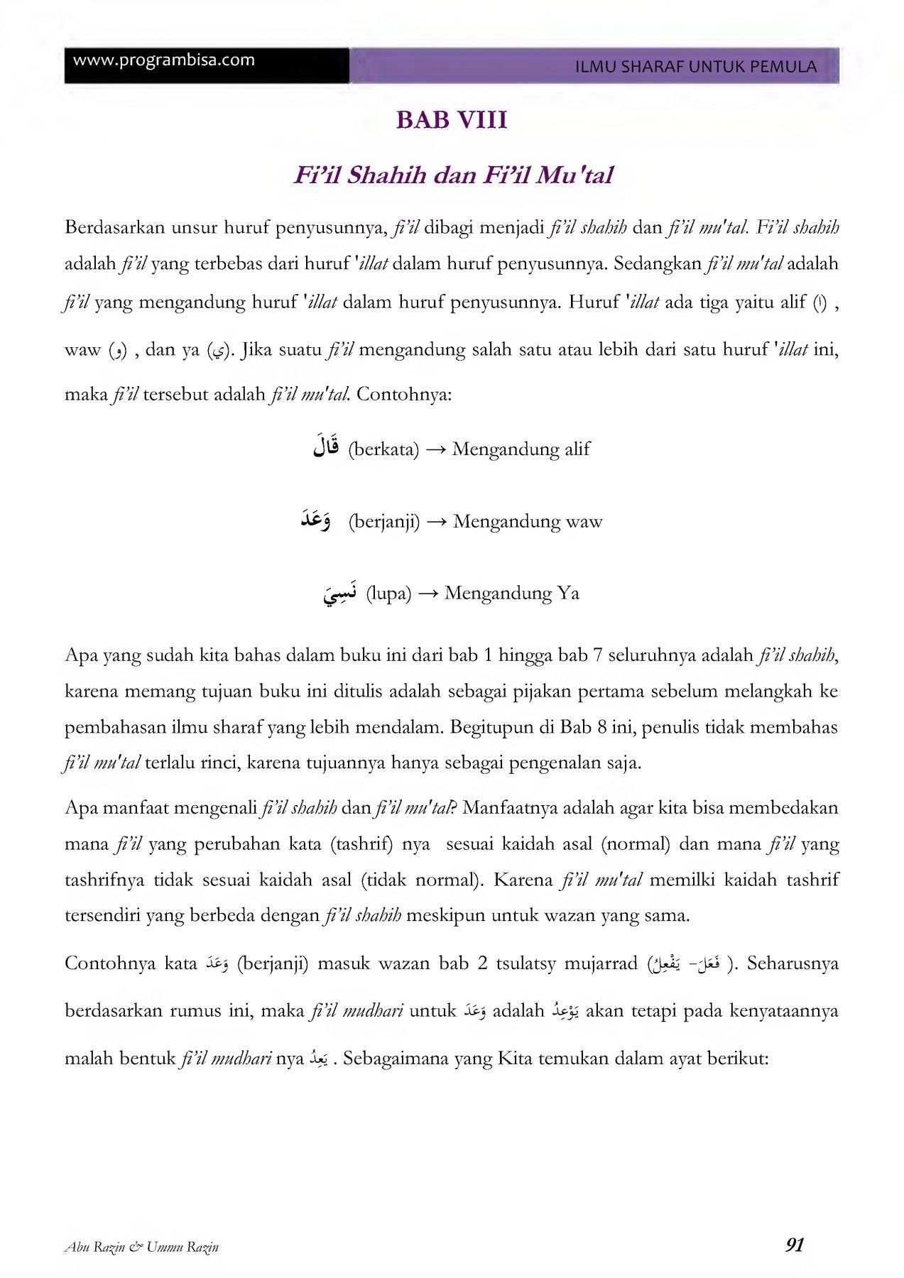 Ebook Ilmu Sharaf Untuk Pemula Cetakan 2 Rev 02 Pages 101 150 Text Version