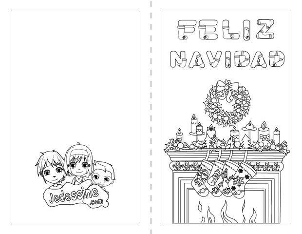 Coloriages Feliz Navidad En Espagnol Frhellokidscom
