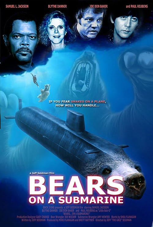 bears on a submarine poster