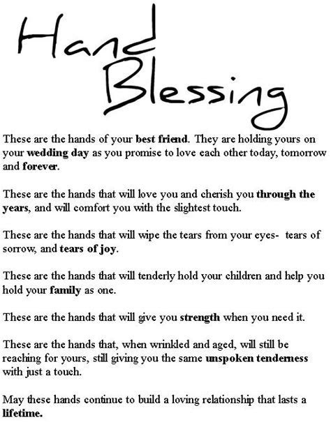 ~Blessing of the Hands~ Read by Kelley right before we