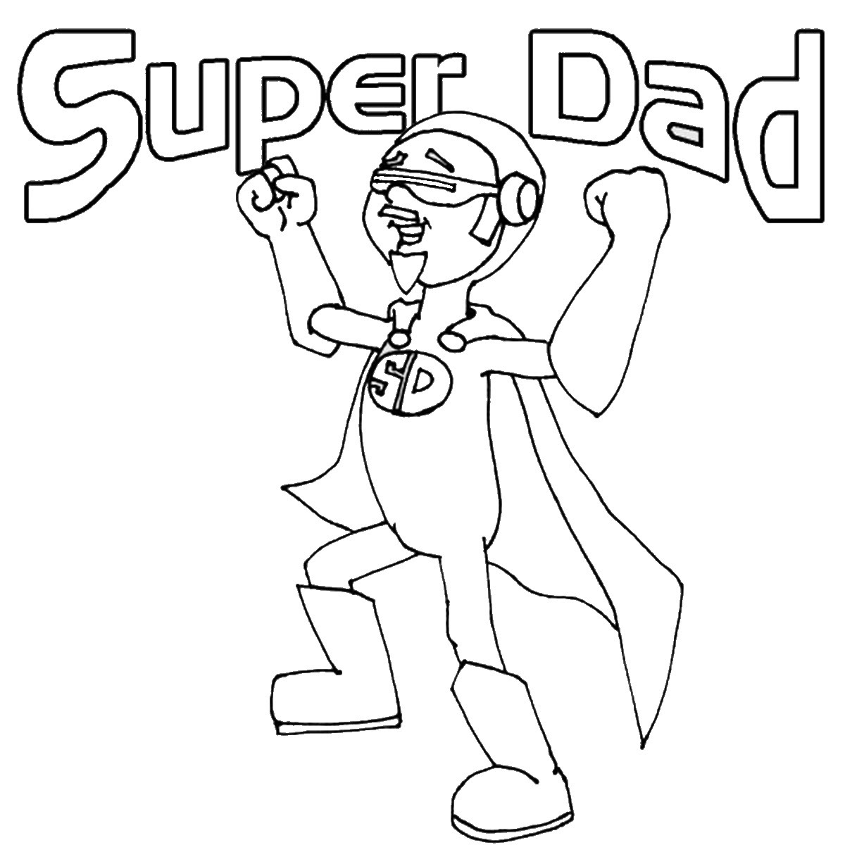 Super Dad Coloring Pages at GetDrawings | Free download