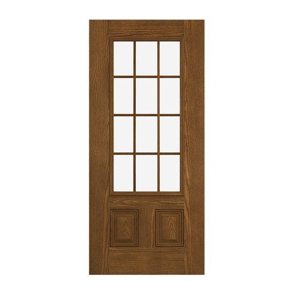 Prehung Exterior Design Pro 2 Panel 12 Lite Door