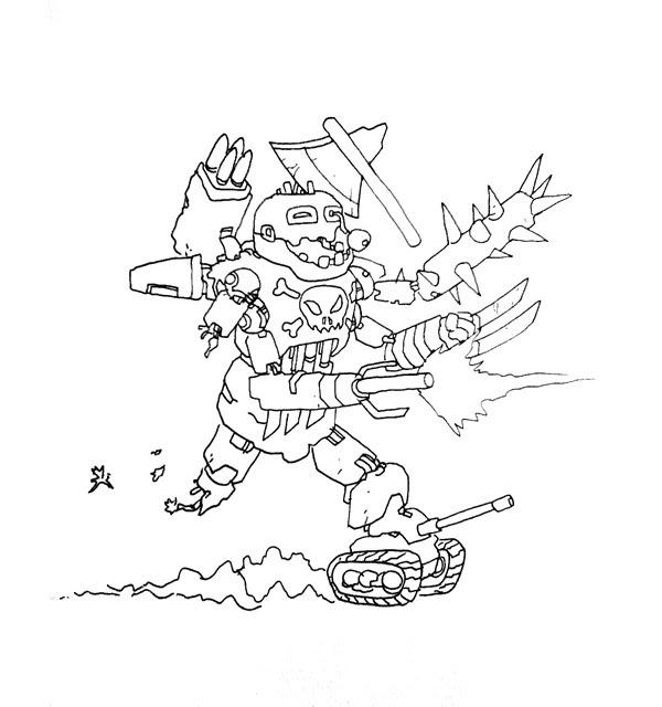 zombot book sketch