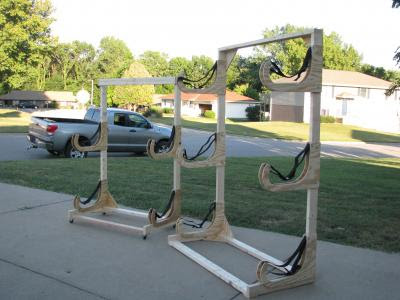 Ohmer sent in a picture of the rack he made using these plans. He