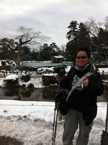 Photo of me at Kenroku-en