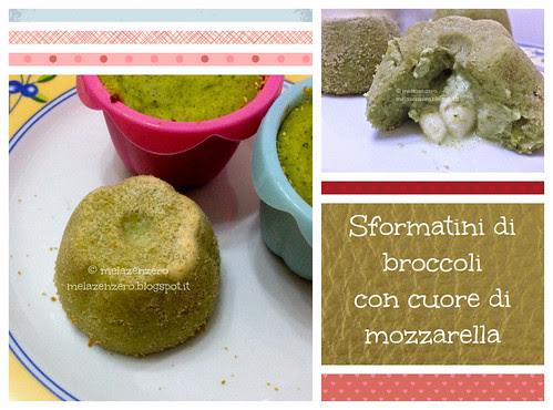 sformatini di broccoli con cuore di mozzarella