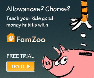Teach your kids good money habits with FamZoo's Virtual Family Bank.