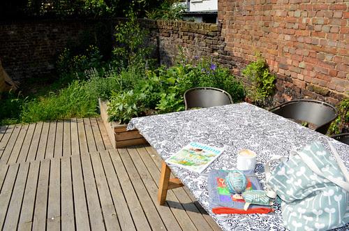 Backyard courtyard at Ray Stitch - London