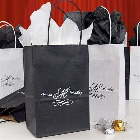 5 x 8 Custom Printed Petite Paper Wedding Gift Bags