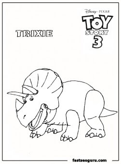 toy story3 trixie kids coloring pages - Printable Coloring ...