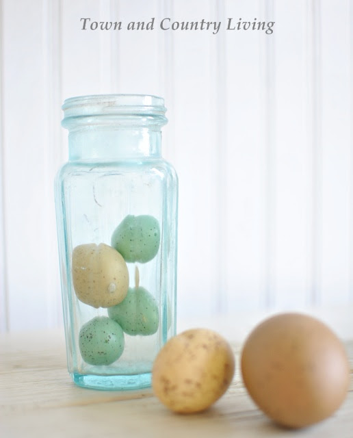 Eggs in an Aqua Bottle