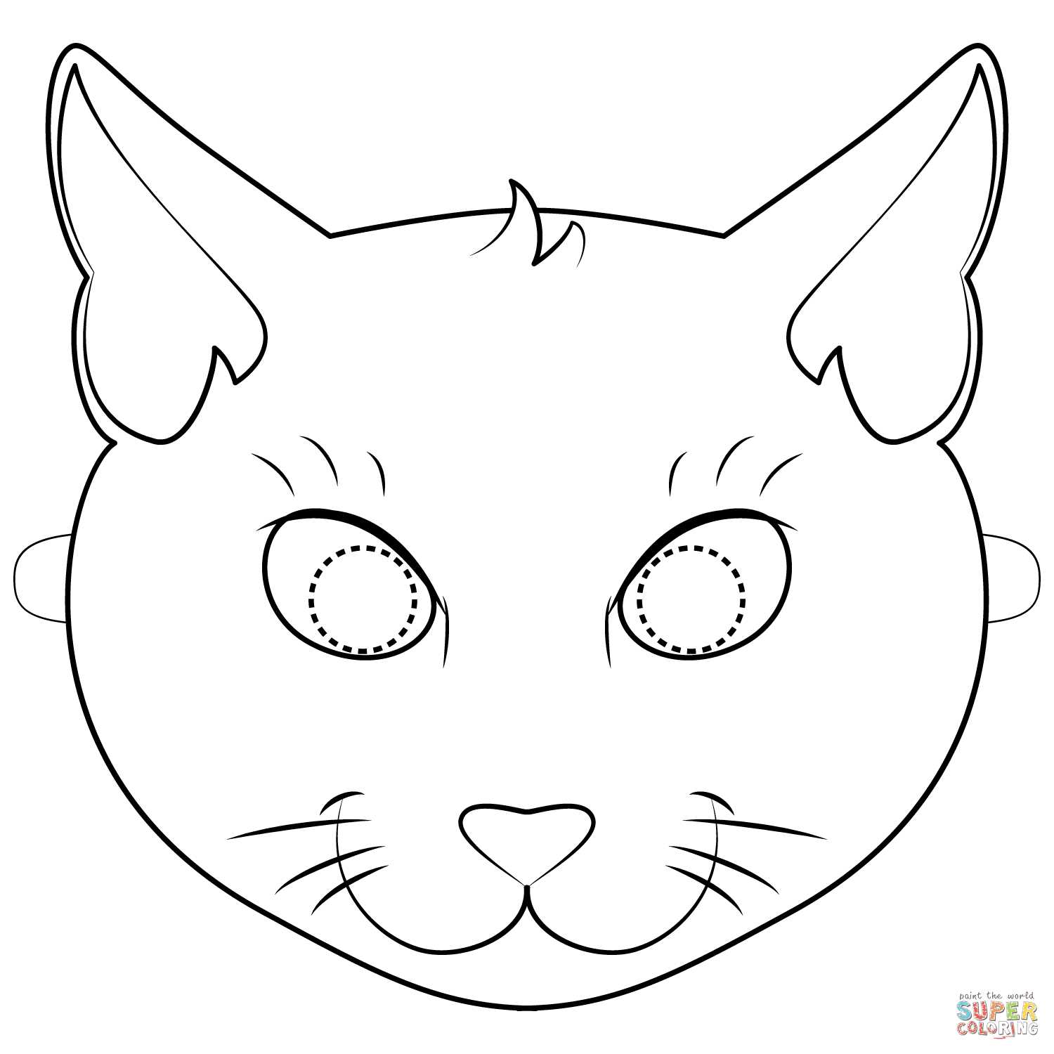 Black Cat Mask coloring page   Free Printable Coloring Pages