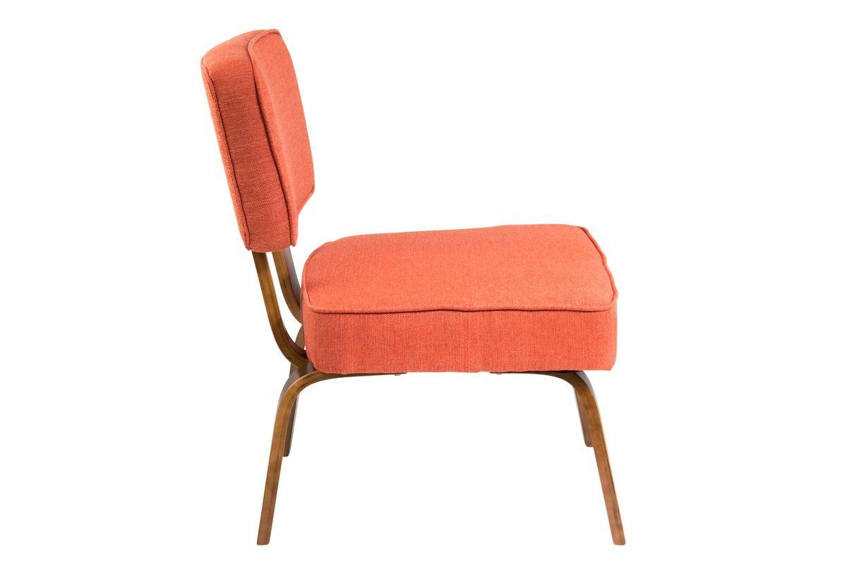 Nunzio Mid-Century Modern Accent Chair in Deep Orange by ...