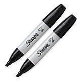 Sanford Corp 38262 2PK Black Chisel Sharpie